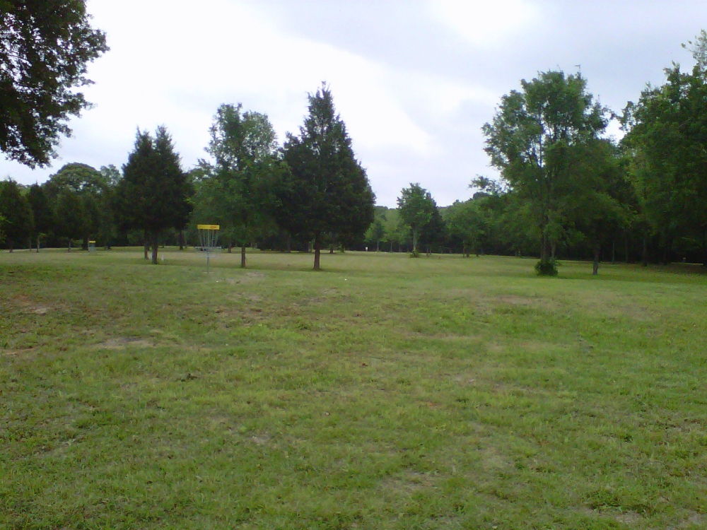 Looking from behind hole #2, across #5 toward #3 and #4.