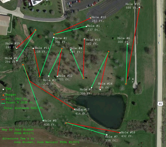Lake Land College Disc Golf Course